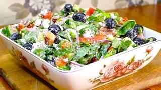 Греческий Салат - Рецепт с сыром Фета