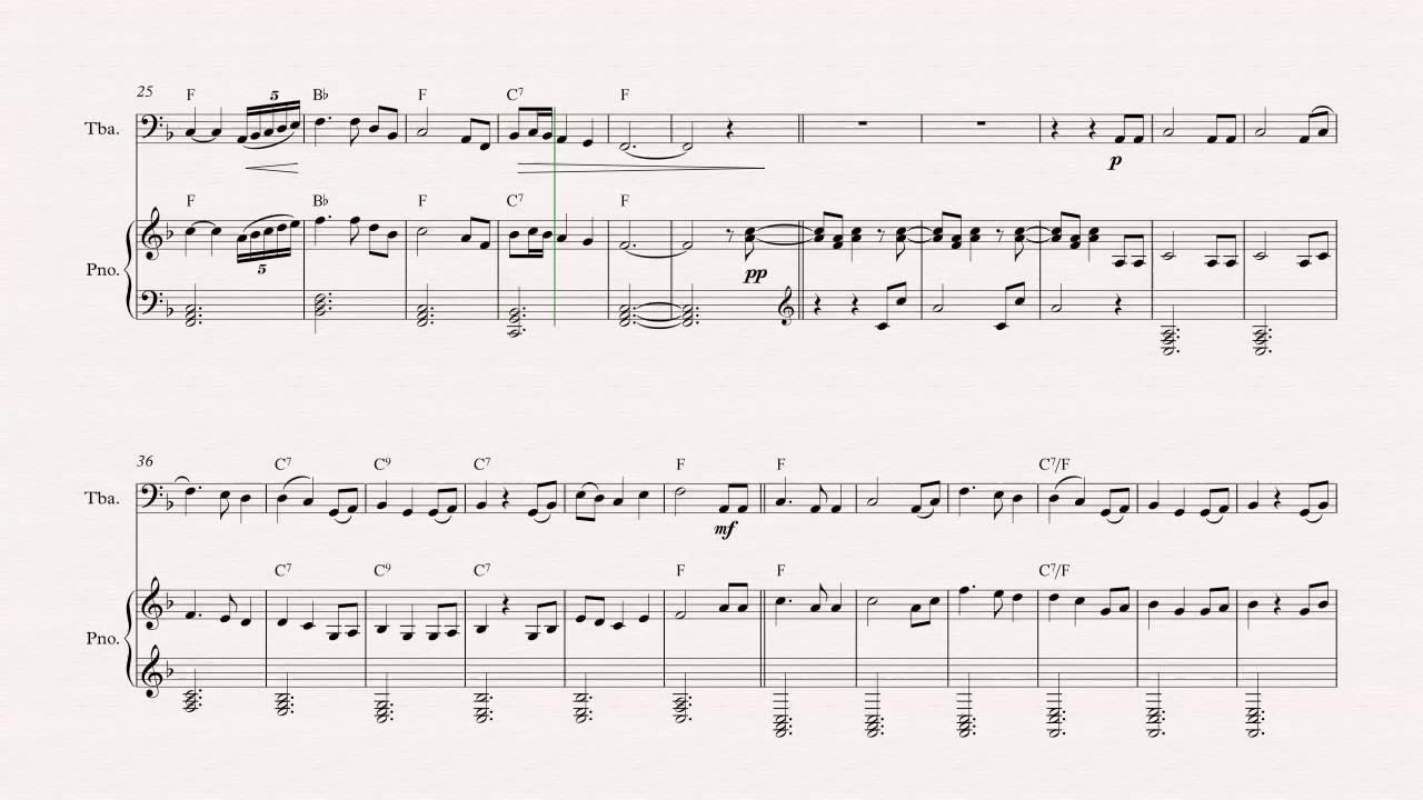 Tuba - Brahms' Lullaby - Christmas Carol - Sheet Music, Chords ...