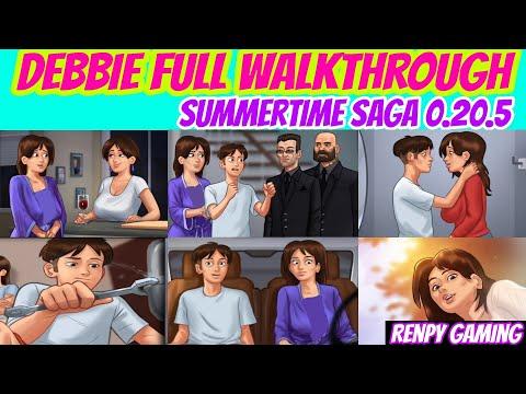 Debbie Full Walkthrough Summertime Saga 0.20.5    Debbie Complete Storyline