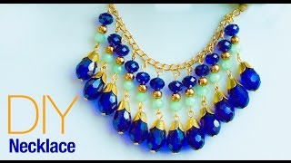 How to make necklace at home | DIY statement necklace |  jewelry making | Beads art