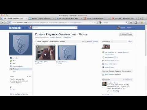 How to edit photo albums on facebook business page