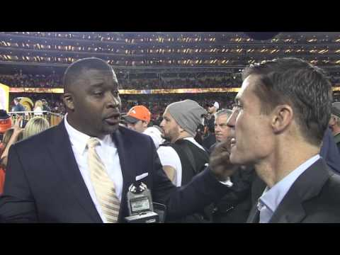 Rod Smith Celebrating Super Bowl 50 Win
