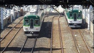 2018/09/02 京阪本線 門真市駅にて。 大阪モノレールとの乗り換えが出来る駅です。 京阪電車の複々線を楽しめるで、区間急行と普通が停車する...