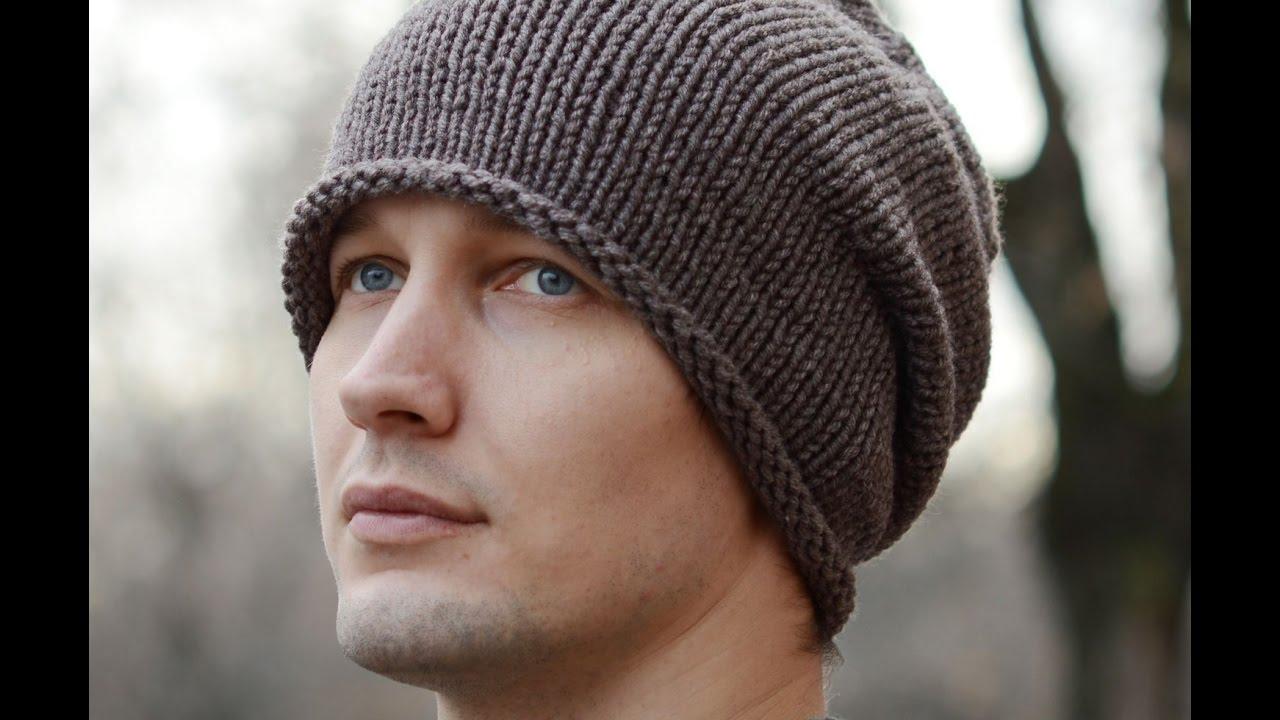 вязаная шапка спицами чулокмодные модели с описаниемшапка для