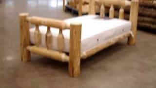 The Log Furniture Store Showcase ~ Our Log Toddler's Bed