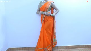 How To Wear Saree Quickly u0026 Easily   Sari Draping Video Tutorial For Beginners To Get Perfect Pleats