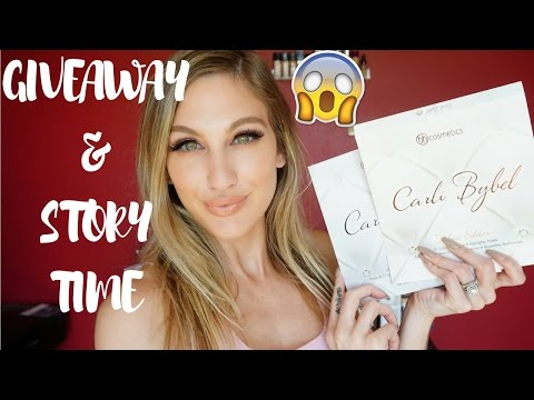 CARLI BYBEL X BH COSMETICS DELUXE PALETTE │ GIVEAWAY & STORY TIME
