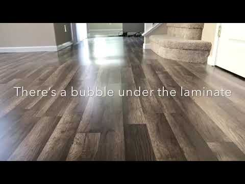 How to get rid of Laminate Flooring bubbles