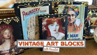 DIY Vintage Art Blocks