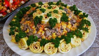 Красивые и вкусные салаты ЦВЕТОЧНЫЙ и ЖЕНСКИЙ КАПРИЗ без МАЙОНЕЗА салаты на праздничный стол
