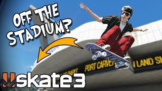 Skate 3: HUGE AIR GRIND CHALLENGE OFF THE STADIUM?