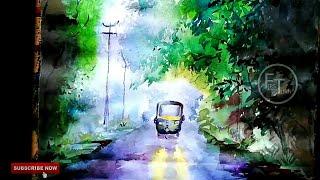 watercolor painting tutorial videos speed painting