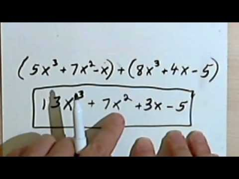 adding and subtracting polynomials 3 9 youtube - Adding And Subtracting Polynomials Worksheet