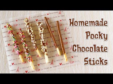 Homemade Pocky Chocolate Sticks ポッキーの作り方 - O