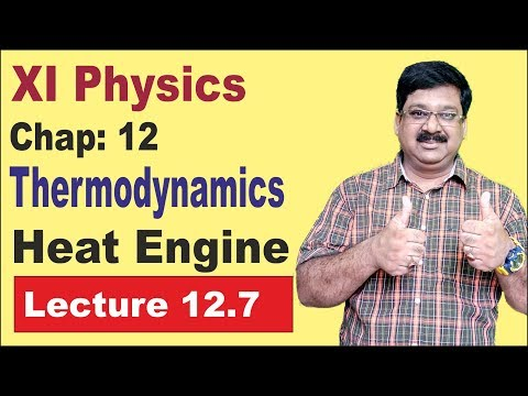 NCERT XI Physics Chap-12.7 Heat Engine, Heat Engine in Thermodynamics, Thermodynamics