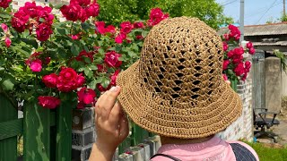 crochet hat | 예쁘고 편한 나비무늬 여름챙모…