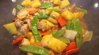 Asian Chicken & Pineapple Stir Fry With Rice Recipe