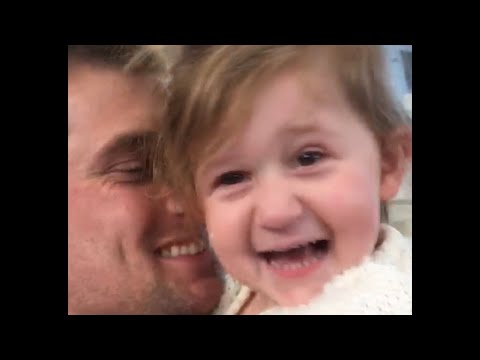 Little Girl Excited to See Her Dad Video 2017 | Daily Heart Beat