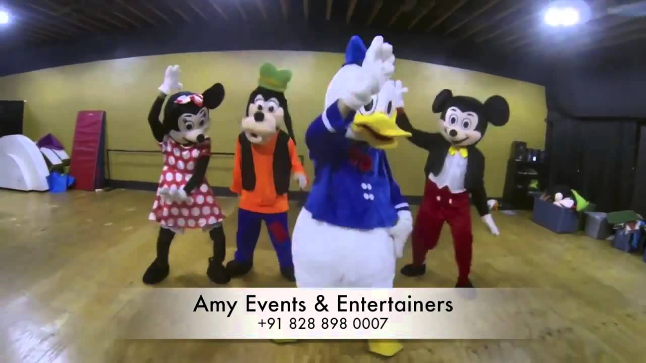 Live Cartoon Characters In Chandigarh For Kids Parties And Birthday Events Youtube