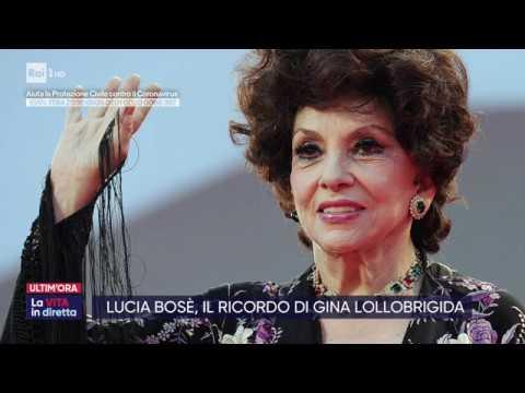 Lucia Bosè morta di Coronavirus - La vita in diretta 23/03/2020
