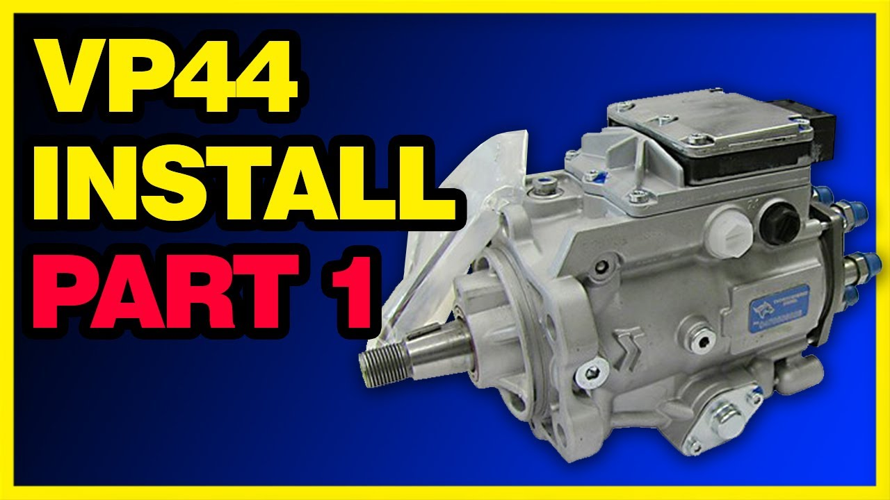 Vp44 Injection Pump >> VP44 Dodge Cummins Injection Pump Install Part 1/2 - YouTube