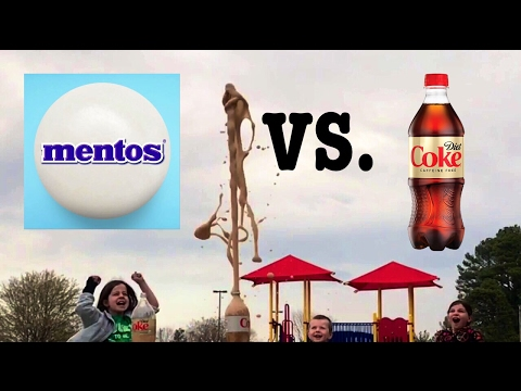 does diet caffeine free coke work with mentos