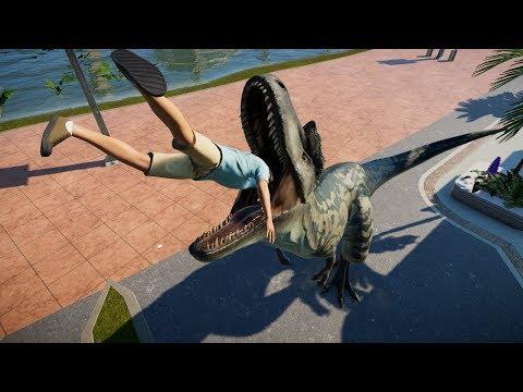 Albertosaurus vs Indominus Rex Breakout & Fight - Jurassic World Evolution Dinosaurs Fighting |