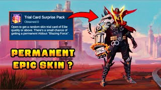 TRIAL CARD SURPRISE PACK | WIN PERMANENT ALDOUS 'BLAZING FORCE' EPIC SKIN FOR FREE? - MLBB