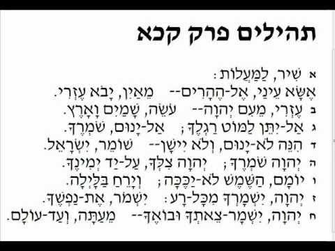 Shir Lama'alot -  Psalm 121 - שיר למעלות - תימנית - الزبور