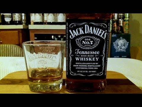 Jack Daniel's Old No. 7 Tennessee Whiskey (80 Proof) DJs BrewTube Booze Review #8