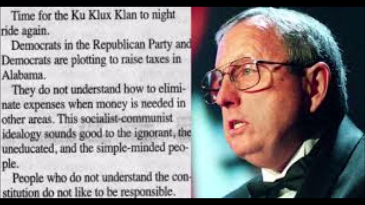 Alabama Newspaper Editor Calls For Klan To 'Night Ride Again'
