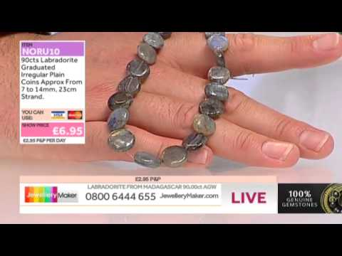 Amber and Pearls for jewellery making: JewelleryMaker late show LIVE 20/07/2014