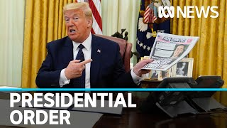 Donald Trump makes executive order challenging protections for social media companies | ABC News