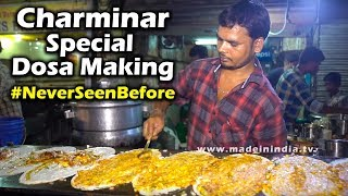 Special Upma Dosa | Charminar Oldcity Dosa Making | Street Fooda