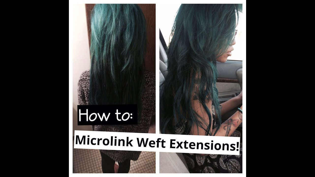 How To Micro Weft Hair Extensions Youtube