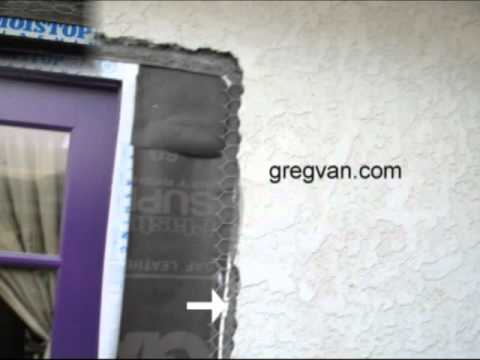 Exterior Stucco Wall Remodeling Information Door And