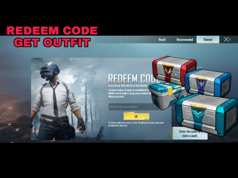 Get Free Outfits By 5 Codes In Pubg Mobile!!redeem Code Get Outfits!! Godzilla Vs Kong New Outfit