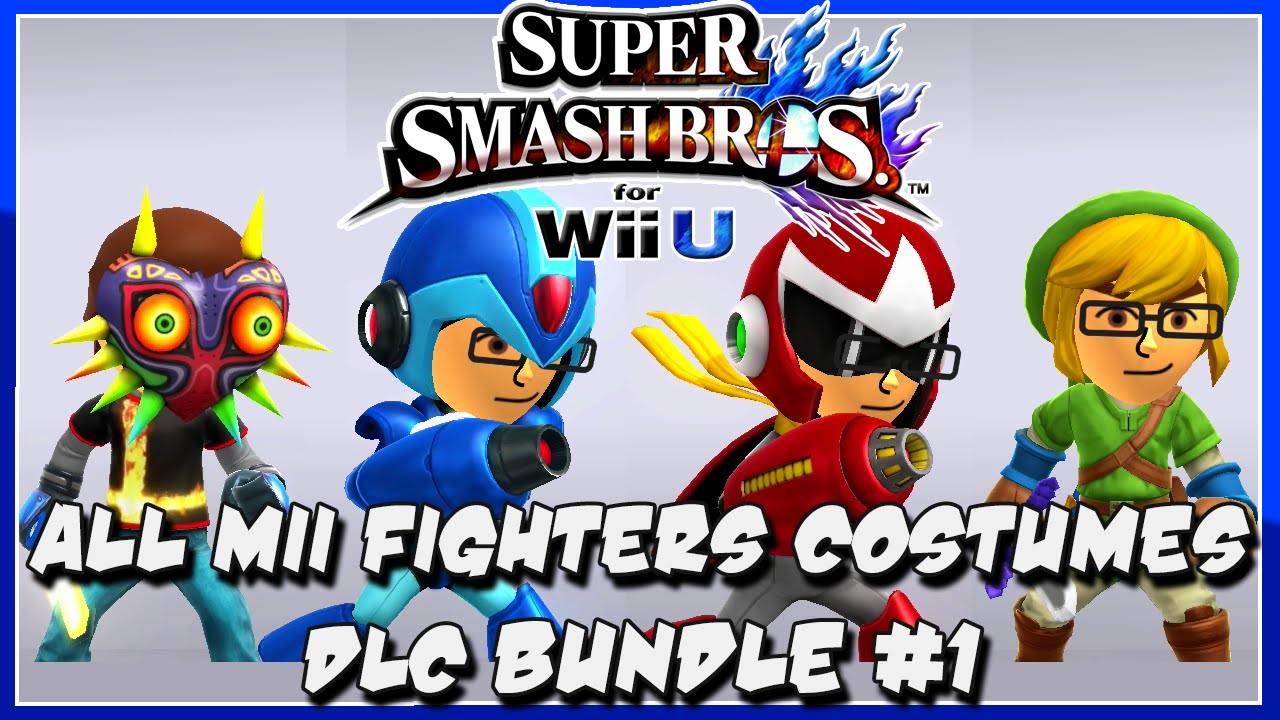 All DLC Mii Fighter Costumes Bundle 1 In Super Smash Bros For Wii U YouTube