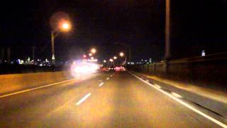 Pulaski Skyway eastbound (Night)