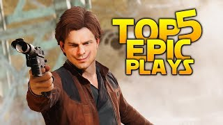 HOKEY RELIGIONS VS A GOOD BL- SHOULDER CHARGE: Battlefront 2 Top 5 Plays