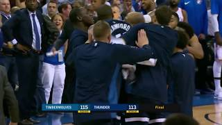 Andrew Wiggins Banks in Game-Winning Three At the Buzzer vs. Thunder