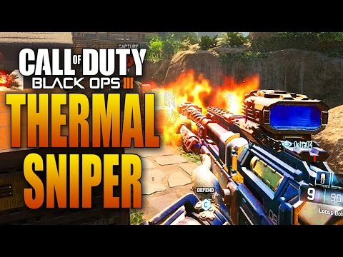 THERMAL SNIPER Gameplay in Black Ops 3! (Locus Bolt-Action Collateral Clip)