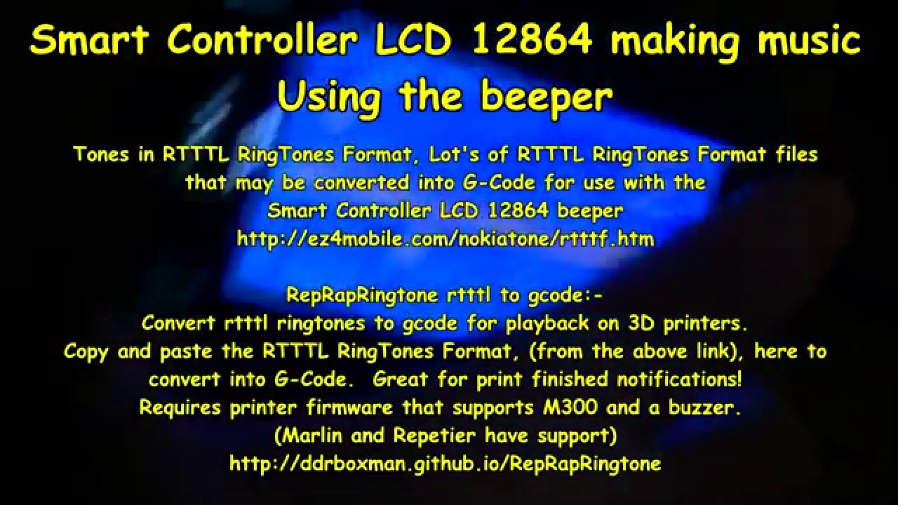 Smart Controller LCD 12864 making music