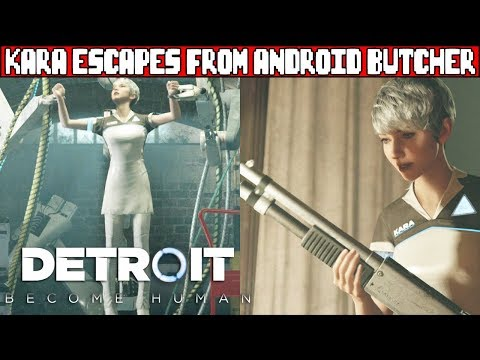 Kara Escapes Capture From An Android Butcher DETROIT BECOME HUMAN