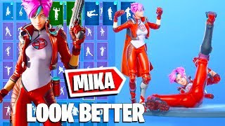 These NEW Fortnite MIKA Skin LOOK BETTER with these EMOTES #FortniteLeaks