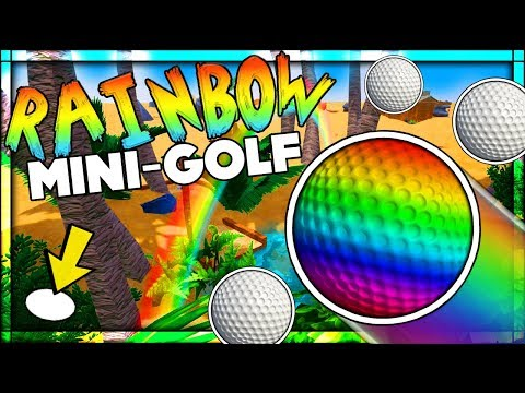 🔴 THE BEST BRAND NEW RAINBOW GOLF COURSE!! CAN WE GO UNDER THE RAINBOW?? | Golf It With Friends