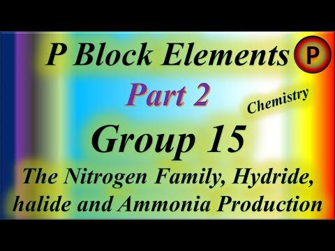 12C1002 P Block Elements, Group 15: The Nitrogen Family, Hadriad, Hailaid and Ammonia Production