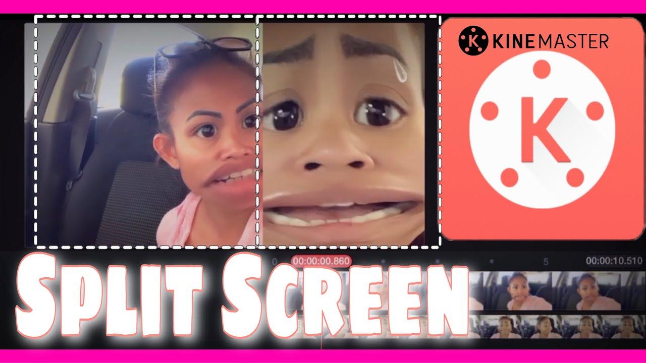 How to Create Split Screen Using KINEMASTER Video Editor ...