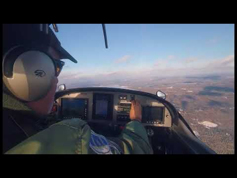RV12 Flight around Stockton Springs, ME after our 1st Snow of the year