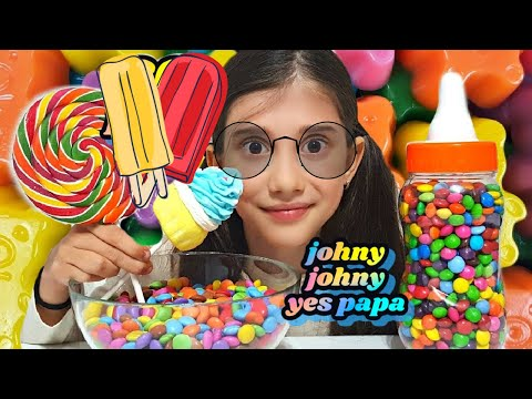 Thumbnail: Crying Baby Learning Colors with M&M Candy Lollipops JOHNY JOHNY YES PAPA Nursery Rhymes
